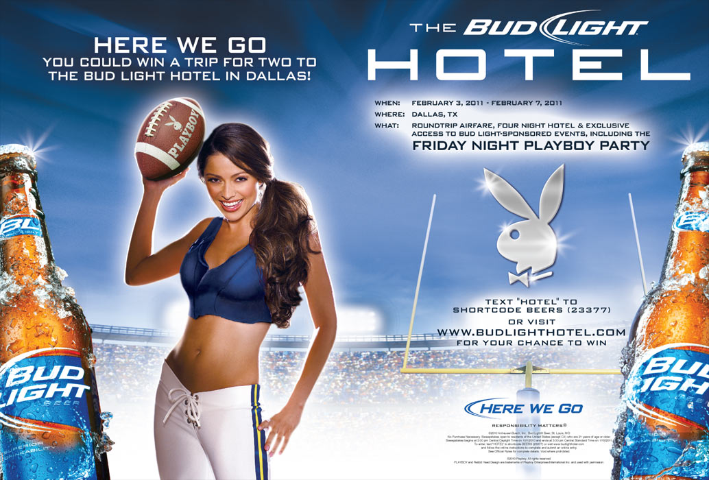 Spread For Playboyu0027s Super Bowl Party. Sponsored By Bud Light.